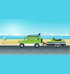 Jet ski rickshaw vector