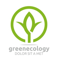 leaves green ecology design vector image