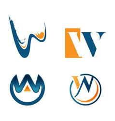letter w tech logo concept idea technology logo vector image