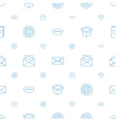 Mail icons pattern seamless white background vector