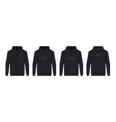 mens hoodie black vector image