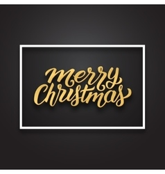 Merry Christmas text on premium background vector