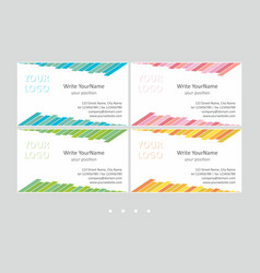 minimalistic business card templates universal vector image