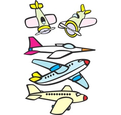 Mixed Toy Aircraft vector image