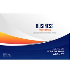 modern blue and orange business presentation vector image