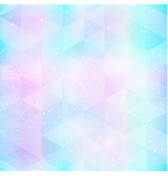 neon triangle seamless pattern with grunge effect vector image
