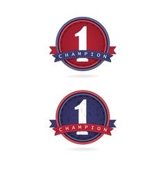 number one label designfirst sign vector image