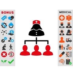 Nurse Patients Connections Icon vector