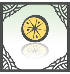 Outline lemon or orange slice icon Modern logo and vector