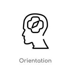 Outline orientation icon isolated black simple vector