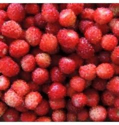 Photorealistic polygonal strawberry background vector image