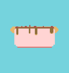 Pixel icon in flat style hot dog vector