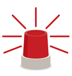 Police or ambulance red flasher siren icon vector