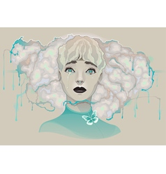Portrait of a lady vector image