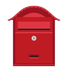 Post mail box isolated vector image