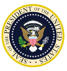 presedent seal vector image