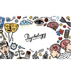 psychology science background psychologist online vector image
