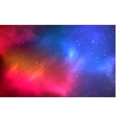realistic color space with nebula and shining vector image