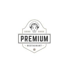 Restaurant logo template object vector