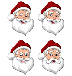 Santa Claus Various Expressions Face Side View vector