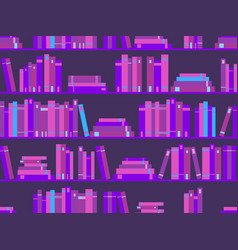 Seamless pattern with books library bookshelf vector