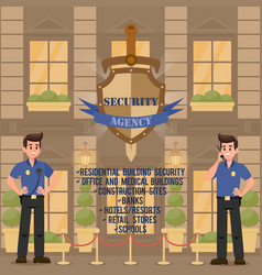 security agency vector image