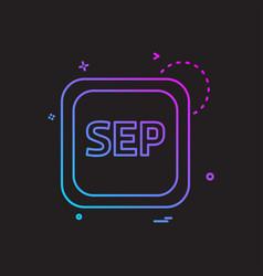 september calender icon design vector image