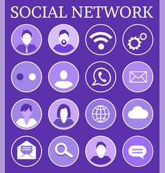 social network poster icons vector image