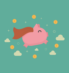 super piggy bank vector image