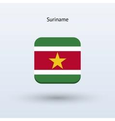 Suriname flag icon vector