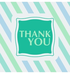 Thank you note on the striped background vector image