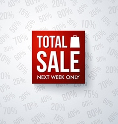 Total sale design template vector