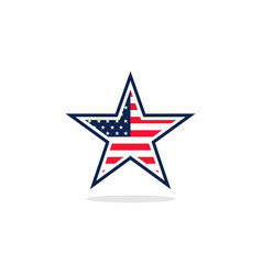 Usa flag star logo vector