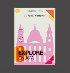 Welcome to the st pauls cathedral london uk vector