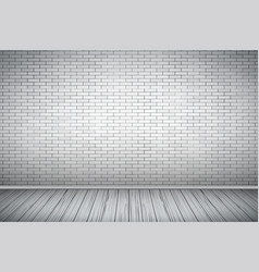 white brick wall room vector image