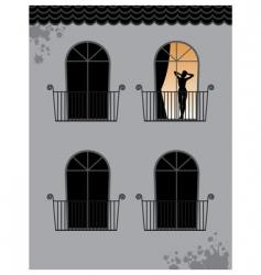 woman at window vector image