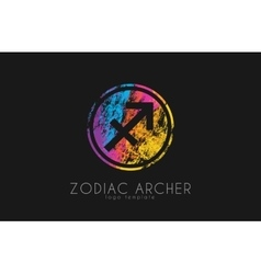 Zodiac archer Zodiac logo Color zodiac logo vector image