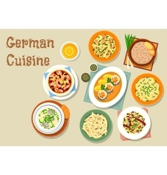 German cuisine icon with bavarian dishes vector image vector image