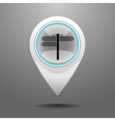 Glossy Crossroad Icon vector image vector image