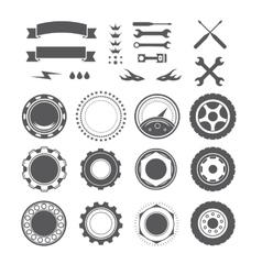 Set of logotype element for mechanic garage car vector image