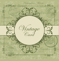 vintage card with place for your text vector image vector image