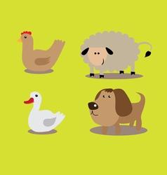 domestic animals set vector image