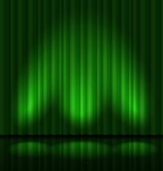 Green drapes vector image