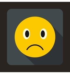 Sad emoticon icon flat style vector image vector image