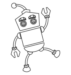 Toy robot icon vector