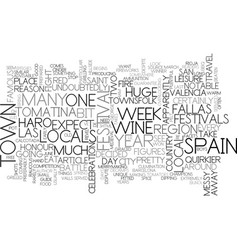 a guide to spain s quirkier festivals text word vector image vector image