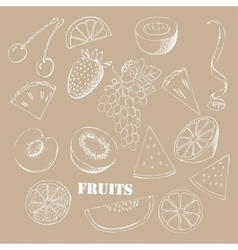 Background with fruit-04 vector image vector image