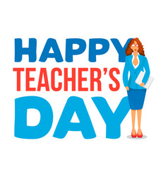 happy teachers day celebration banner vector image
