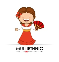 multi ethnic vector image vector image