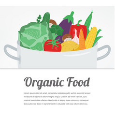Organic food vegetable food icons healthy eating vector